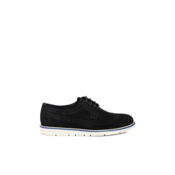 Black Suede Leather Men Shoes54175A01 E19I1AY54175