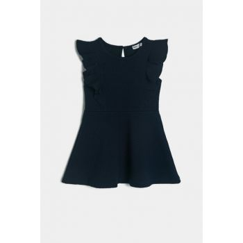 Navy Blue Kids Firfir Detailed Dress 0KKG87789AK