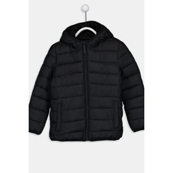 Boys' New Black Cvl Coat 9W1614Z4