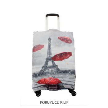 Gray Unisex Luggage Pouch Cabin Size KLF EFELEL-UMBRELLA S
