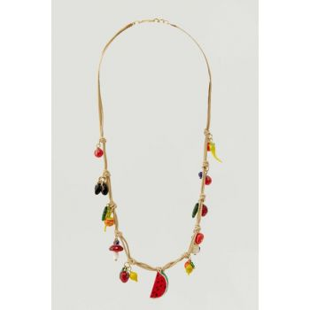 Women's Gold Fruity Rope Necklace 09990375