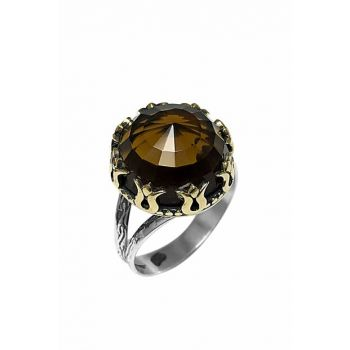 Women's Authentic Sterling Silver Ring Citrine Zirconia 2020592A