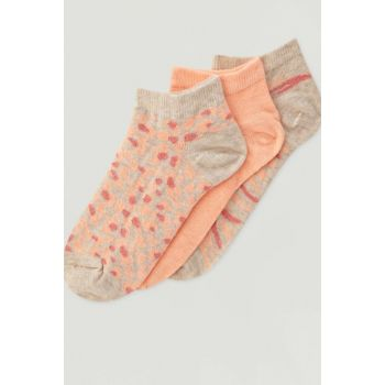 Women's Pink 3 Pack Patterned Socks 09893318