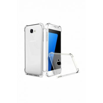 Rich Shop Samsung Galaxy J7 Prime Ultra Thin Transparent Airbag Anti Shock Silicone Case - Transparent J7 PRIME TRANSPARENT