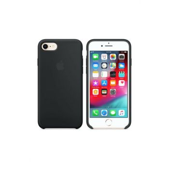 iPhone 7 Original Slim Silicone Rubber Case Back Cover - Black MMWF2ZM / A-4