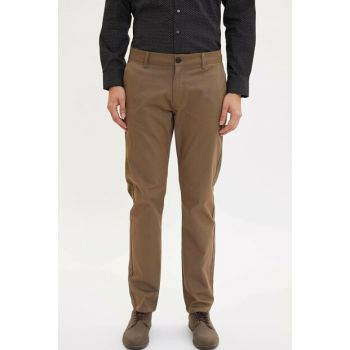 Men's Khaki Regular Fit Chino Pants L2488AZ.19AU.KH68