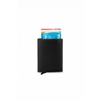 Men's Automatic Mechanism Smart Card Wallet Black 5237Tek 5237TEK