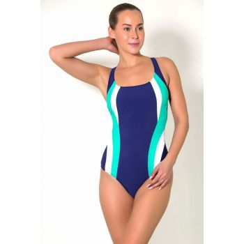 Women's Navy Blue Swimmer Swimwear UCCT19SSMYO123-184