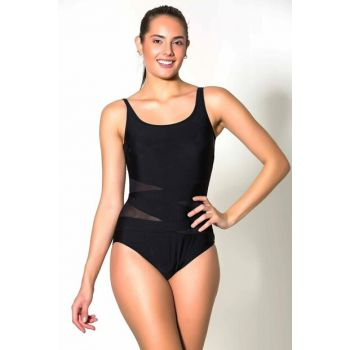 Women's Black U Neck Swimwear UCCT19SSMYO025-293