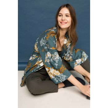 Women's Patterned Jacket I1528AZ.17AU.GN636