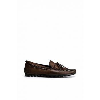 Genuine Leather Coffee Men Loafer Shoes 02AYH138600A420