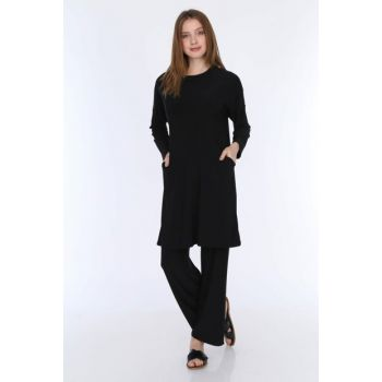 Women's Black Sandy Pants Suit 5259