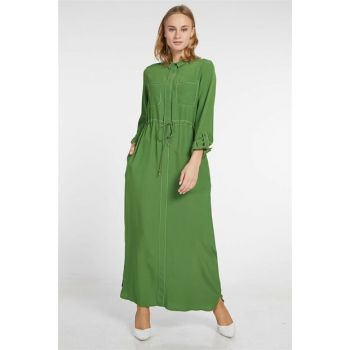 Women's Green Dress Kayra-KA-B9-23079