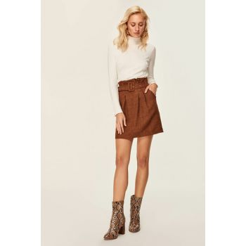Cinnamon Belt Detailed Skirt TOFAW19ST0119