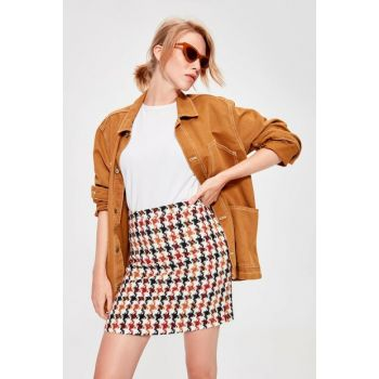 Multi Colored Plaid Skirt TWOAW20ET0120