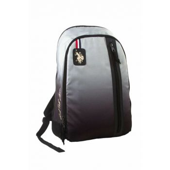 Gray-Black Three Compartment Casual Backpack - 6390 PLCAN6390