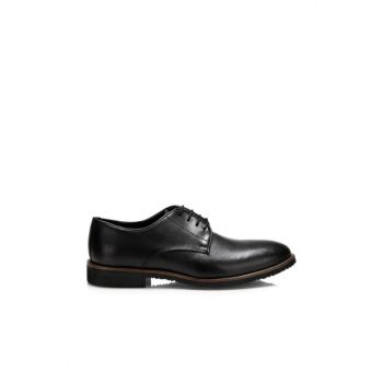Genuine Leather Black Men Classic Shoes 02AYH125130A100