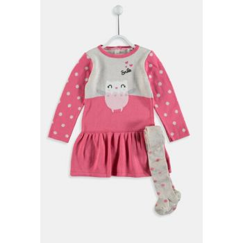 Baby Girl Beige Melange D2Y Dress 9W6237Z1