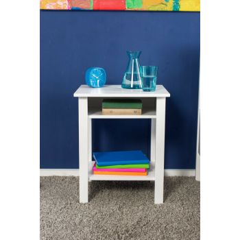Easy Single Compartment Table - White NKM-017-BY-1