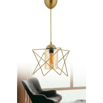 Zigzag Single Tumbled Pendant With Glass ASY200