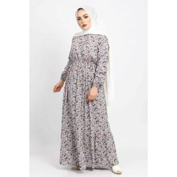 Women Floral Dress TSD3107 Gray TSD3107