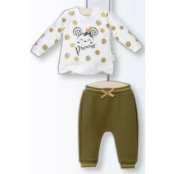 Wogi Baby Girl Bottom Top 2 Sets Khaki 3-15 Months 5138 WG5138HAKI