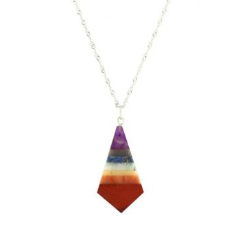 Natural 7 Chakra Stone Pendant (Chain Included) TYDK099