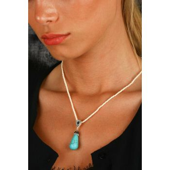 Women's Natural Stone Turquoise Necklace Z121Ar132 Z121AR132