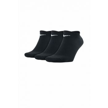 Value No Show 3-Piece Unisex Black Socks (SX2554-001)