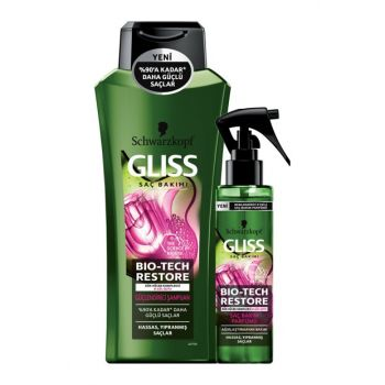 Bio-Tech Hair Care Fragrance 100ml + Gliss Bio-Tech Strengthening Shampoo 360ml SET.HNKL.700