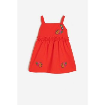 Red Child Embroidered Dress 9YMG89231ZW