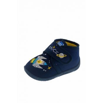 Navy Blue Unisex Baby Ankle Boots With Tulips 01056442000000