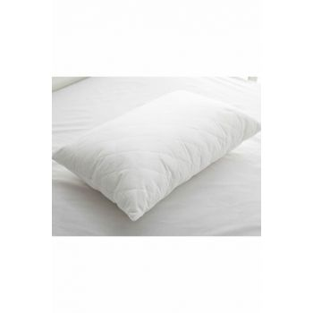 Fluffy Quilted Pillow 50x70 Cm White 10005616