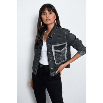 Women's Anthracite Jean Jacket TV205