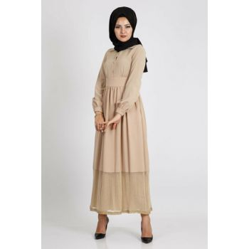Women's Beige Dress 2209600020
