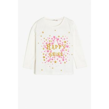 Ecru Children's Printed T-Shirt 0KKG17707OK