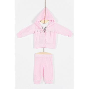 Buude Baby Girl Bottom Top 3 Set Hooded 6734 B6734