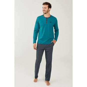 Men's Green Pajama Set 3189