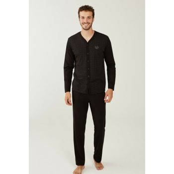 Men's Black Pajama Set 3192