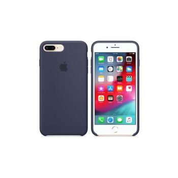 iPhone 8 Plus Original Slim Silicone Rubber Case Back Cover - Navy Blue MMQY2ZM / A-10