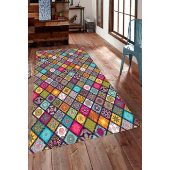 Digital Printed Carpet with Symmetrical Diamond Pattern RSP001480