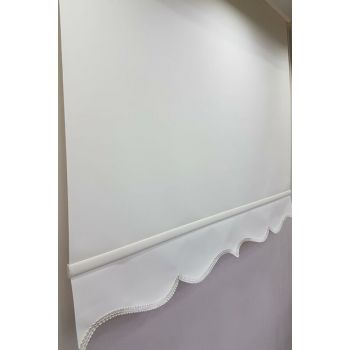 100X200 Flat Cream Roller Blind Curtain MS1201 8605481022802