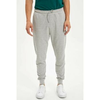 Men's Gray Slim Fit Jogger Trousers L7094AZ.19AU.GR360