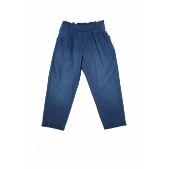 Blue Unisex Children Trousers 91Z4JDS01