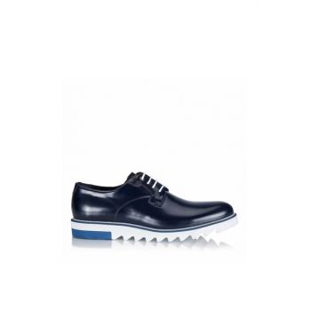 Genuine Leather Navy Blue Men Shoes 02AYH105950A680