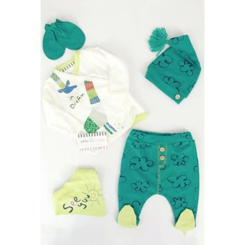 Green Giraffe Baby Boy 5Li Hospital Outlet AF5059