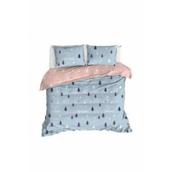 100% Natural Cotton Double Duvet Cover Set A.Blue Ep-020280