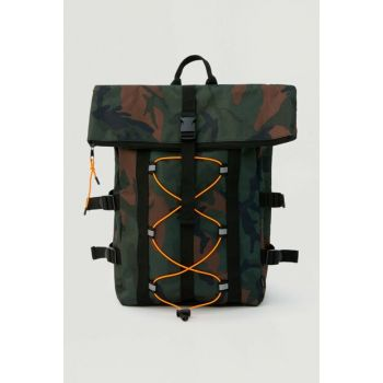 Men's Colorful Camouflage Flexible Watchband Backpack 09821503