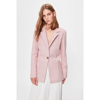 Pink One Button Jacket TWOAW20CE0189