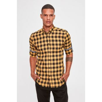 Mustard Men Plaid Lumberjack Slim Fit Shirt New TMNAW20GO0358